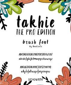 Takhie Pro | Multilingual Brush Font — OpenType OTF #takhie #takhie pro • Available here → https://graphicriver.net/item/takhie-pro-multilingual-brush-font/19908855?ref=pxcr