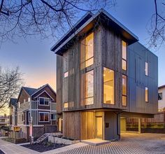 Ballard Aperture by First Lamp Architecture and Construction, Modern multi-unit house designed in 2012 by First Lamp Architecture and Construction located in Seattle, Washington