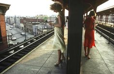 """Bruce Davidson's """"Subway"""" series photographed in 1980 and printed in 2006"""