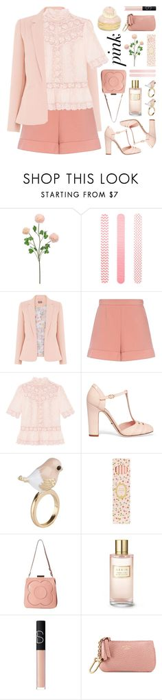 """""""color me pretty: head-to-toe pink"""" by jesuisunlapin ❤ liked on Polyvore featuring Accessorize, RED Valentino, Dolce&Gabbana, ALDO, Ladurée, Orla Kiely, Estée Lauder, NARS Cosmetics, Gucci and Pink"""