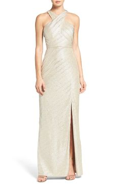 Laundry by Shelli Segal Metallic Gown available at #Nordstrom