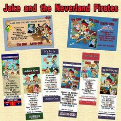 Jake and The Neverland Pirates Birthday Invitation You Print Personalized Custom | eBay