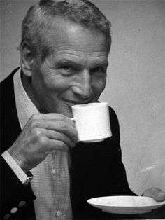 Image result for PAUL NEWMAN DRINKING COFFEE