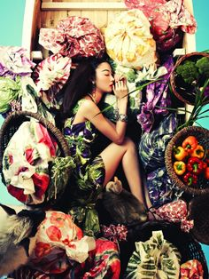 Ji Hye Park photographed by Bosung Kim in Vogue Korea, June 2012