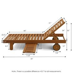 Furinno Tioman Outdoor Hardwood Sun Lounger with Tray Diy Furniture Couch, Outdoor Furniture Plans, Pallet Furniture, Furniture Projects, Patio Chairs, Outdoor Chairs, Indoor Outdoor, Chaise Lounges, Diy Wood Projects