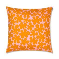 Marimekko Paprika Pink / Orange Throw Pillow