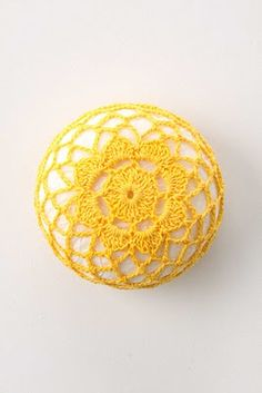 crochet around a soap.  A doorknob or cabinet and drawer pulls would be cool.