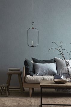 Boråstapeter (the fantastic swedish wallpaper maker) collection Linen, Shadow Blue.