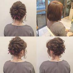 #mulpix hairarrange* * bob * 右上Before * #hairarrange #ヘアアレンジ #ヘアセット #結婚式 #二次会 #ボブ #ボブアレンジ #東京 #kanekoarrange