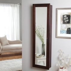 Wall-Mounted Wooden Jewelry Armoire       $189.98