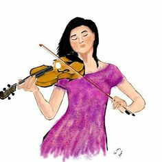 playing art  #drawing #music #violin #illustration #sketch #dessin