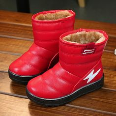 fa57132ba571 US 21.99 - Unisex Pure Color Lightning Decor Warm Snow Boots For Toddler  And Kids Warm