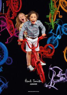 Paul Smith Junior summer 2012 Bike madness with kids fashion Designer Kids Wear, Catwalk Collection, Paul Smith, Photography Props, Cool Kids, Design Elements, Branding Design, Kids Fashion, Bike