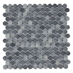 Dark Gray II Penny Porcelain Mosaic - 10in. x 12in. | Floor and Decor $3.99