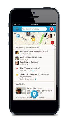 Mais de 30 milhões de pessoas usam o Foursquare para aproveitar ao máximo do lugar onde estão. Conheça lugares incríveis perto de você, procure o que vai satisfazer sua vontade no momento e receba ofertas e dicas ao longo do caminho. E o melhor de tudo? O Foursquare é personalizado. Com cada check-in, aprimoramos cada vez mais nossas recomendações de lugares para você conhecer.