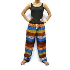 Colorful Print Unisex Thai Harem Pants/Pulling by AsianChicShop, $15.99   harem pants, men harem pants, harem pants pattern, hippie boho pants, trouser harem pant, hippie pant harem, women harem pants, harem pant, harem pant women, yoga pants, elephant pants, aladdin pants