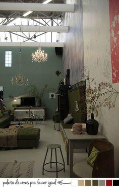 Loft industrial com elementos clássicos