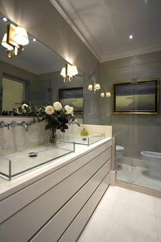 Glass Sinks!?  We'd probably chip them in a week, but lovely to look at.