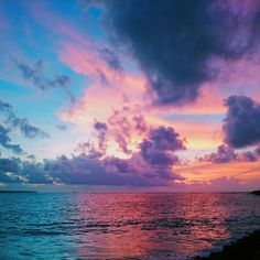 The cotton candy sky and the sea. Beautiful sunset ever. This is a beautiful picture that I took two days ago. And I love it! Everything about it is beautiful!