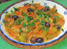 Peperoni in padella con olive nere