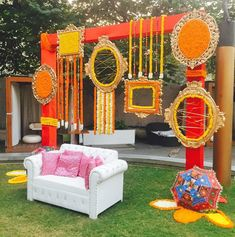 10 Awesome Wedding Decorators To Fit In Every Budget Desi Wedding Decor, Wedding Hall Decorations, Marriage Decoration, Backdrop Decorations, Flower Decorations, Backdrops, Diwali Decorations, Wedding Ideas, Mehndi Stage Decor