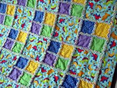 Rag Quilt...like the big and small squares