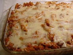 Baked Pasta: I made for a friend who just had a baby! Modify with whole wheat pasta, reduced fat cream cheese, reduced fat cheese, and ground turkey or really lean beef. Yum!