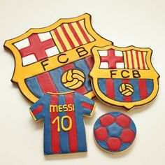 galletas Barça escudo camiseta y pelota