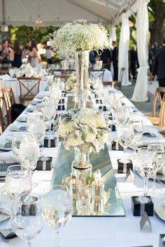 Sleek and Modern Charleston Wedding Tall Wedding Centerpieces, Wedding Table Decorations, Chic Wedding, Our Wedding, Wedding Venues, Destination Wedding Inspiration, Reception Design, Wedding Mood Board, Deco Table