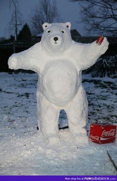 The Coca-Cola polar bear Ice cold refreshment
