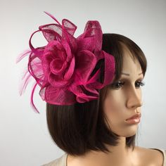 Your place to buy and sell all things handmade Handmade Jewelry, Unique Jewelry, Handmade Gifts, Pink Fascinator, Occasion Hats, Fascinators, Mother Of The Bride, Pink Roses, Wedding Jewelry