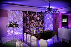 Dekoracja światłem sali weselnej - U Kozła