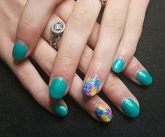 Entity Dip & Buff nail with Gelish Street Beat Collection and stamped image for feature...