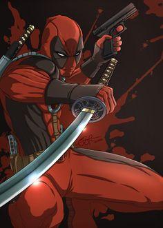 "extraordinarycomics: ""Deadpool by Gideon L. Lanot......!!!!"