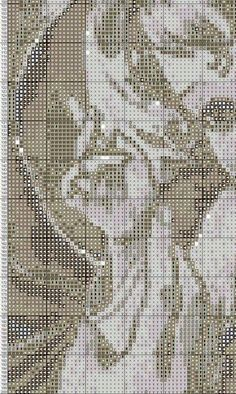 Pin by scarlet speed on punto croce e ricamo Mary And Jesus, Jesus On The Cross, Love Bugs, Christmas Cross, Pretty Art, Le Point, Cross Stitching, Madonna, Embroidery Stitches