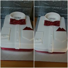 Maroon and white shirt confirmation cake Confirmation Cakes, Gift Wrapping, Tableware, Shirt, Desserts, Gifts, Food, Gift Wrapping Paper, Tailgate Desserts