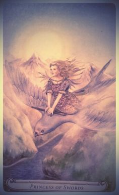 #batmtarotchallenge Day 25) Who Am I? Thumbelina/Princess of Swords. I just have to live up to her now ...