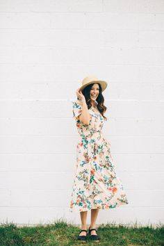floral midi with pockets