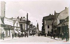 ul. Lipowa (Tykocka, Choroska, Lindenstrasse,Nowolipie,Piłsudskiego,Stalina,Hitlera), Białystok - 1930 rok, stare zdjęcia