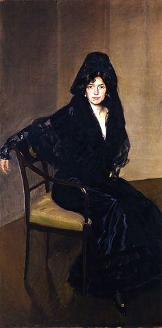 Clotilde en Negro, Joaquín Sorolla y Bastida (Spanish, 1863-1923).