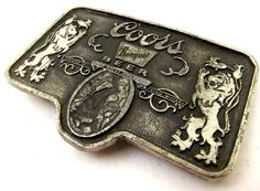Vintage Coors Banquet Beer Belt buckle  by honeyblossomstudio, $16.99