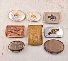 Belt Buckle Lot of 8. $24.00, via Etsy.