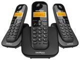 Telefone Sem Fio Intelbras TS 3113 2 Ramais - de Mesa com Identificador de Chamadas Preto