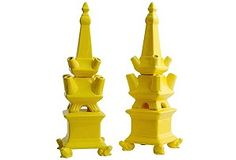yellow tulipiere #yellow #vase #chinoiserie