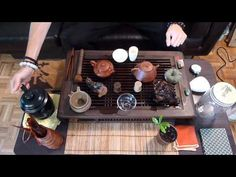 Bamboo Tea Tray Displaying And Serveing Tea Tea Tray Handicraft Chinese Kung-Fu Tea Setchinese Teaism Practice.