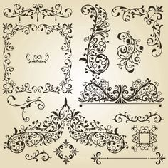 Free Vintage Borders and Frames | ... and Borders vector 03 - Vector Frames & Borders free download