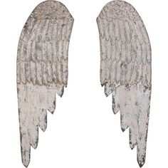 Add heavenly style to your foyer or living room with this ornate wood wall decor, showcasing an eye-catching wing design and a distressed white finish.