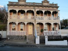 Old Terrace homes, Launceston, Tasmania