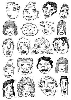 greg kletsel dot tumblr dot com Creepy Drawings, Pencil Art Drawings, Art Drawings Sketches, Character Drawing, Character Illustration, Illustration Art, Cartoon Art, Drawing Cartoon Faces, Hippie Art