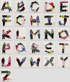 Alphabet made out of kiddos! Do this with my class, post up on wall. Could do all kinds of activities with it! schoolauction : Alphabet made out of kiddos! Do this with my class, post up on wall. Could do all kinds of activities with it! Class Art Projects, Classroom Projects, Art Auction Projects, Classroom Ideas, Classe D'art, Abc Poster, Reggio Classroom, Reggio Inspired Classrooms, Preschool Classroom